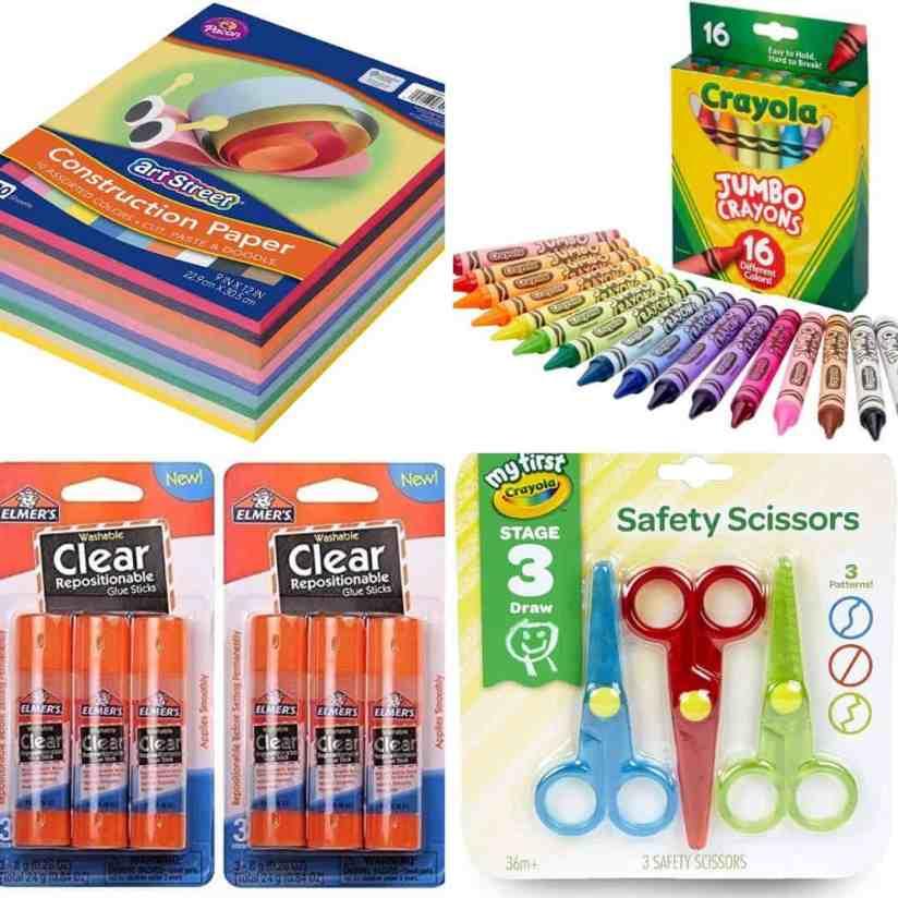 craft supplies for indoor toddler activities