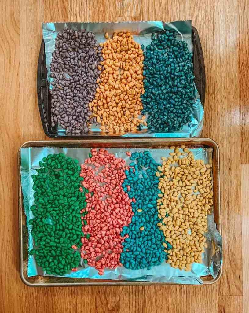 dying beans for play magic bean sensory bin 1