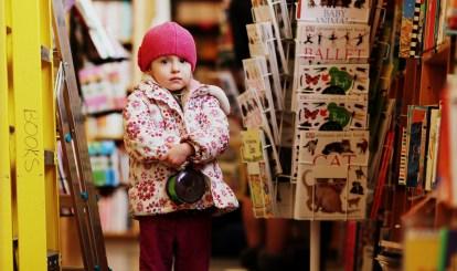 little girl in powell's books