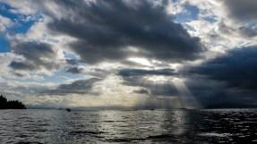 sunlight through dark clouds Ketchikan