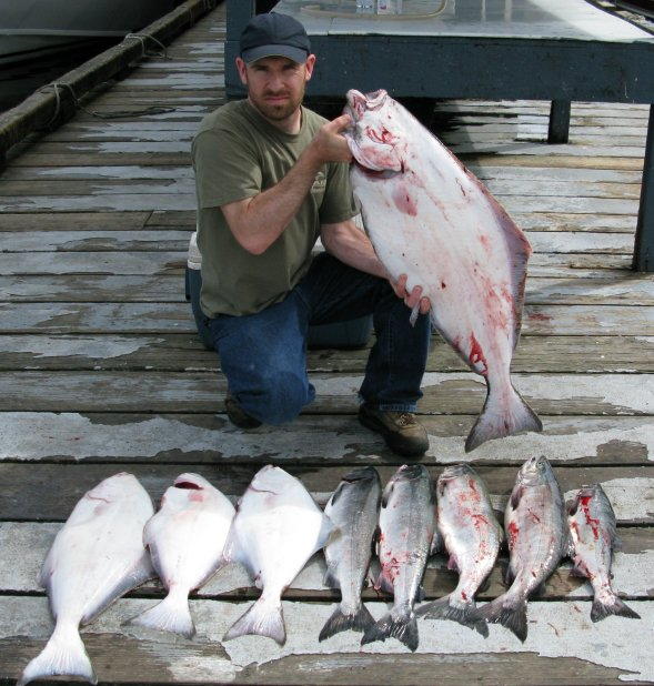 halibut at Knudsen Cove