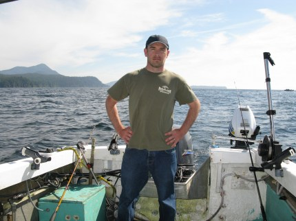 man on fishing boat in Ketchikan
