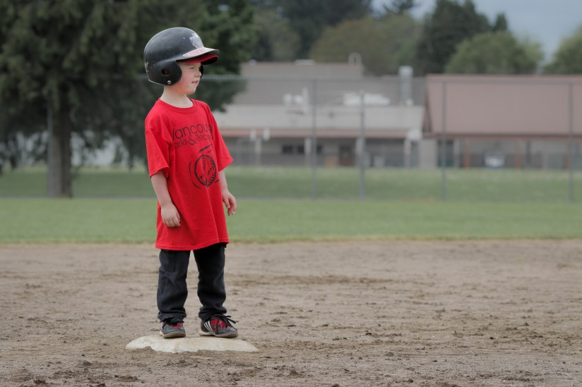 little boy on base