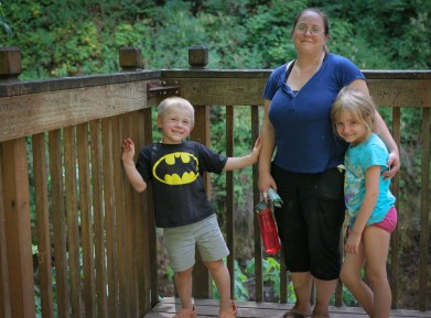 mom and two kids