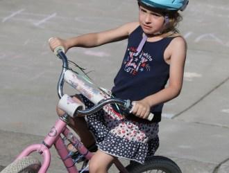 little girl on bike