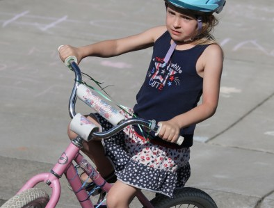 little girl on bike