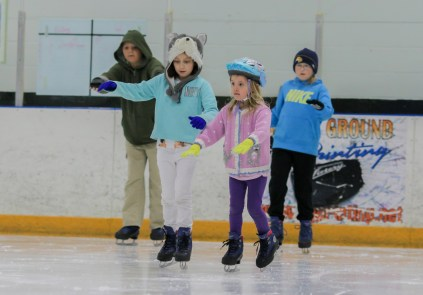 little girl ice skating