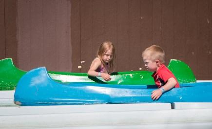kids in canoes