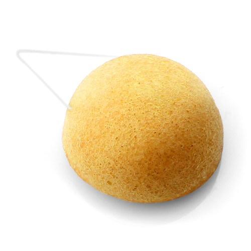 éponge konjac argile jaune ronde