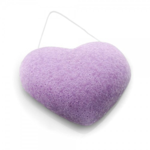 éponge konjac coeur à la violette