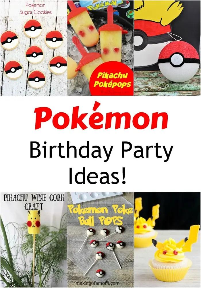 Pokemon Birthday Party Ideas My Boys And Their Toys