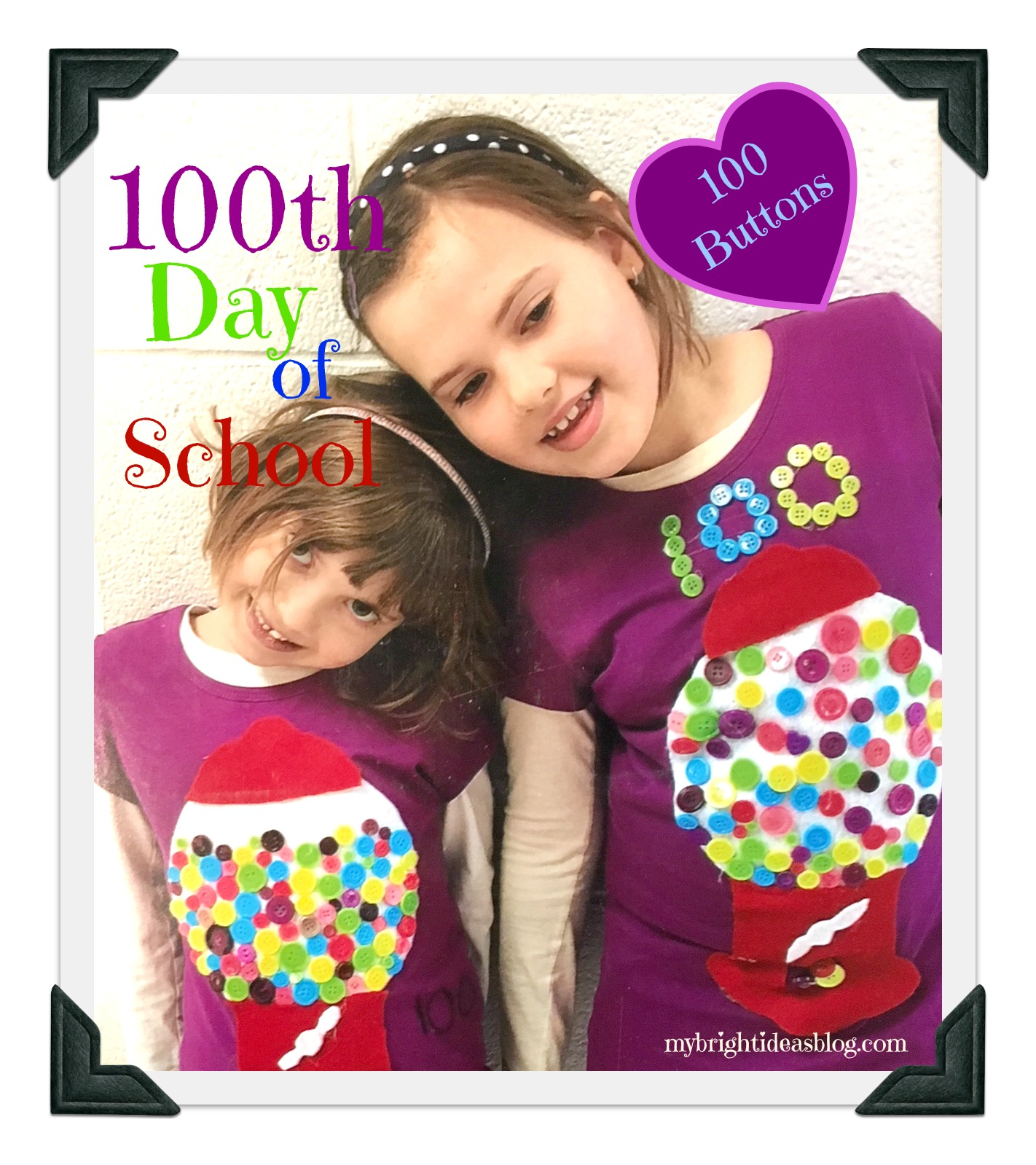 100th Day Of School Celebration Glue Buttons On A Shirt