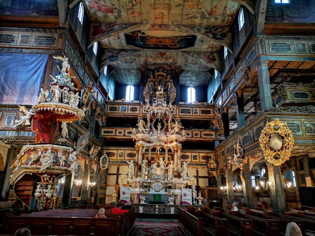 Ołtarz główny ewangelickiego kościoła Świętej Trójcy w Świdnicy