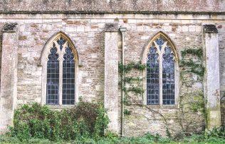 Lacock jesienią klasztor