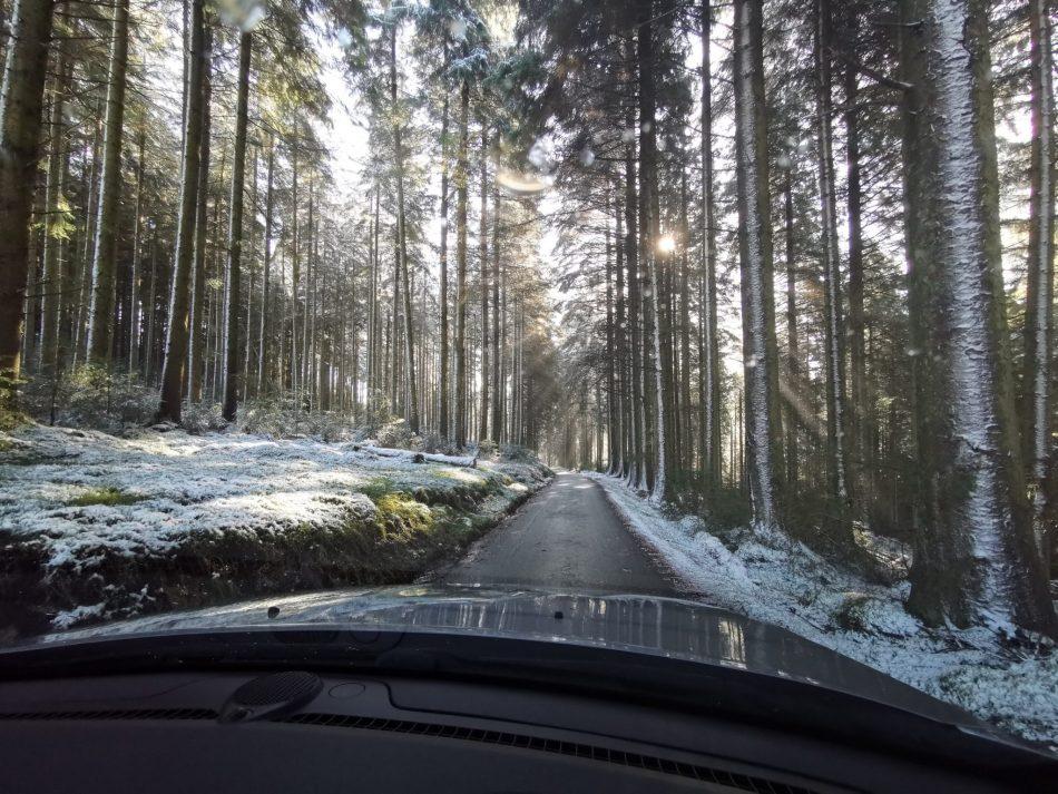 Pierwszy śnieg dosłownie zaskoczył nas w Walii