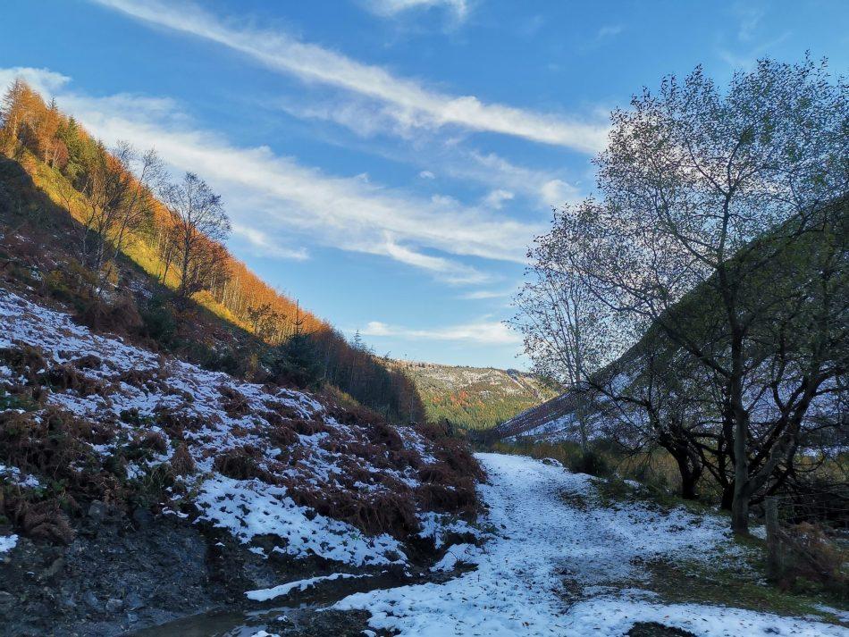 Dolina Afon Eiddew jest piękna na przełomie jesieni i zimy