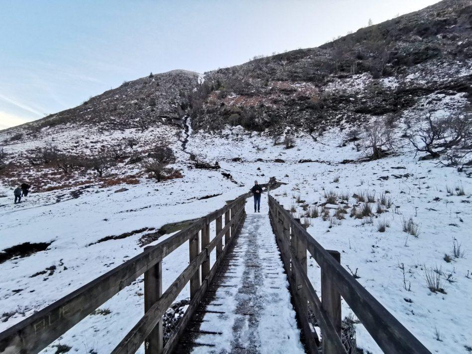 Zimowy pejzaż w Dolinie Afon Eiddew