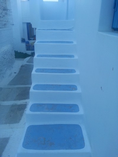 White stairs, Plaka, Milos