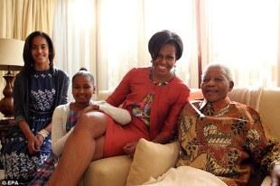 Obamafamilywith mandela