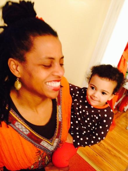 Lori Tharps and Baby