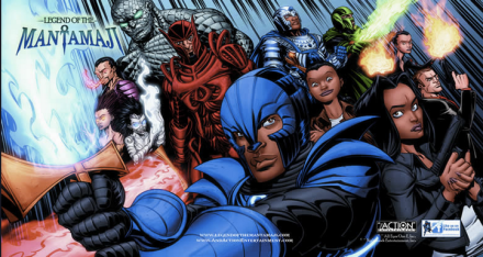 Legend of the Mantamaji graphic novel characters by Eric Dean Seaton