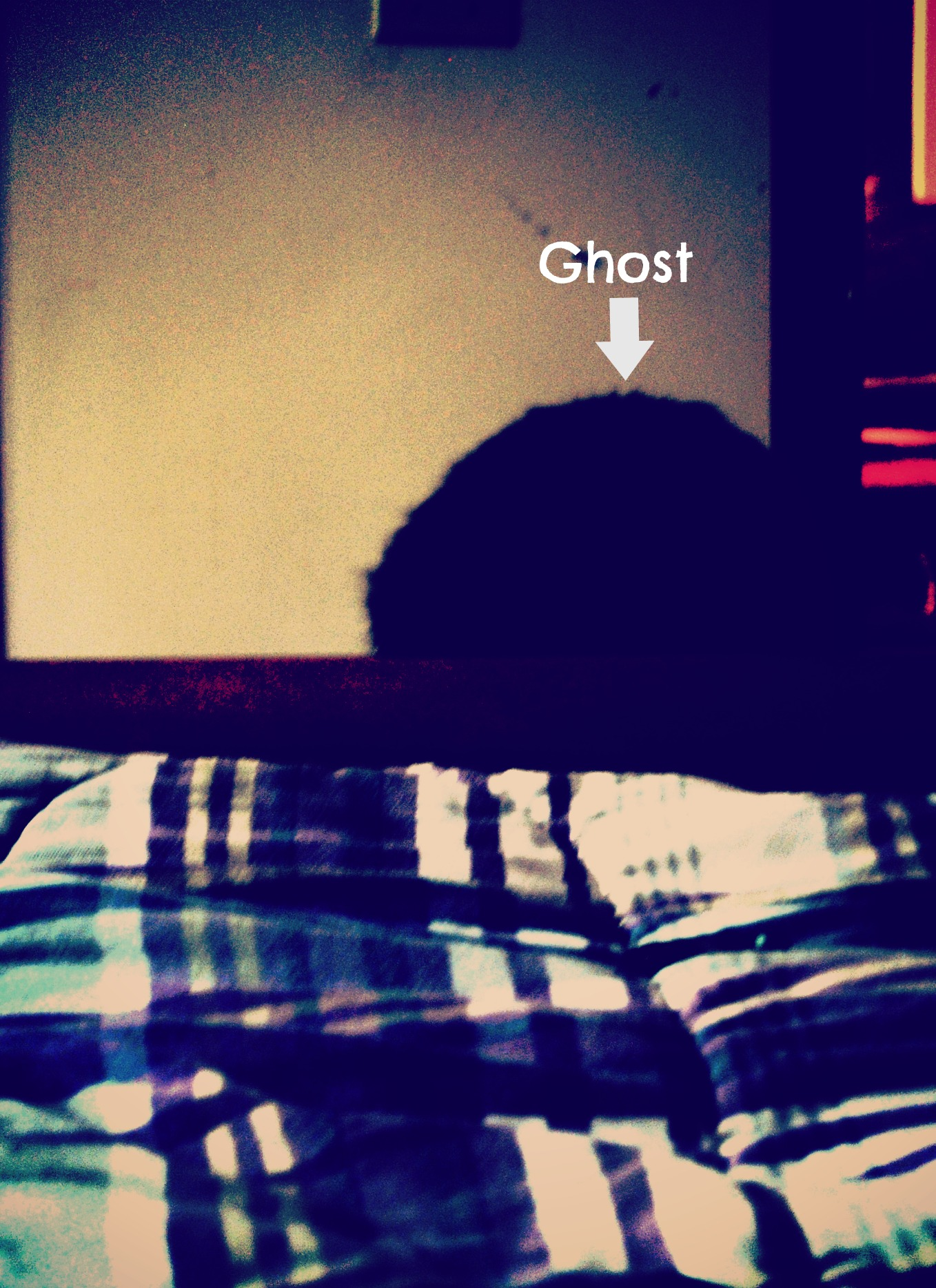 Foot Of The Bed i see ghosts at the foot of my bed, or is that sherman? - my