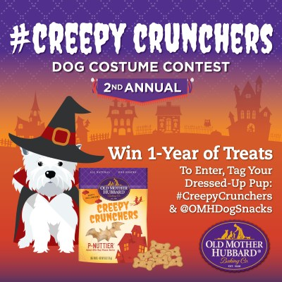 The 2nd Annual Old Mother Hubbard #CreepyCrunchers Dog Costume Contest Has Begun!