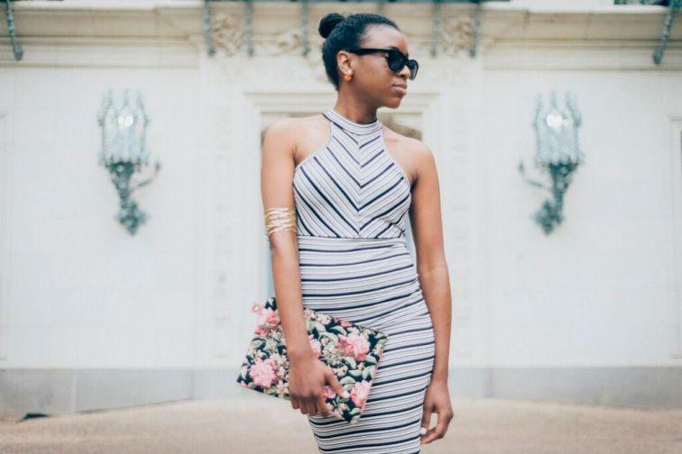 striped dress look away