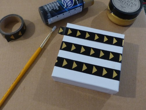 prepping to paint gift box