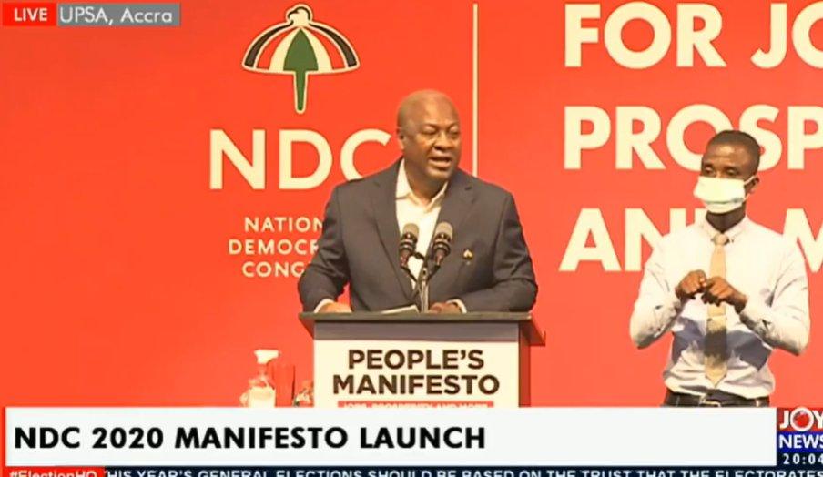 NDC 2020 Manifesto Launch: Message from Flagbearer | Bryt FM