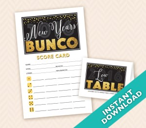 January New Years Bunco Theme