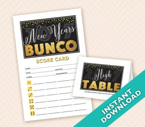 2017 New Years Bunco