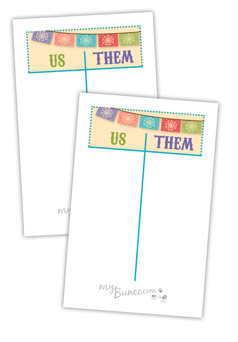 photo regarding Free Printable Bunco Table Tally Sheets called Freebies Archives My Bunco