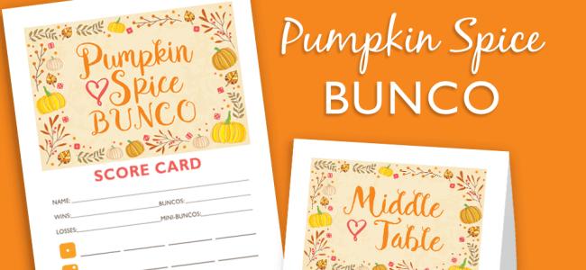 Pumpkin Spice Bunco Set