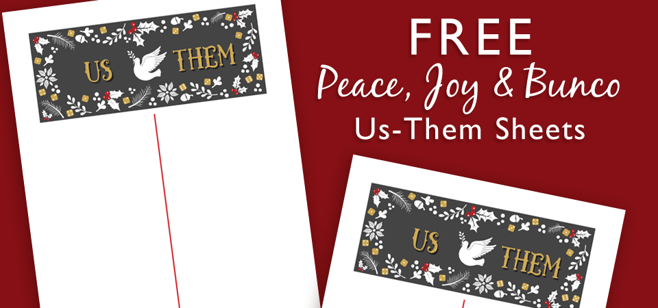 FREE Holiday Us-Them Sheets
