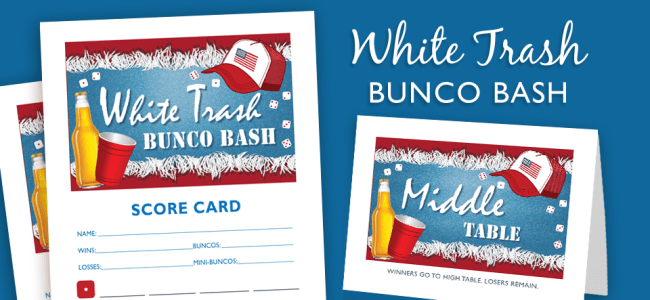 White Trash Bunco Bash