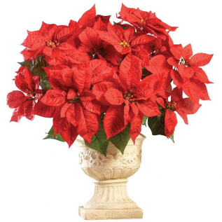 Holiday Poinsettia Bouquet Planter Bunches – Set of 3, Red