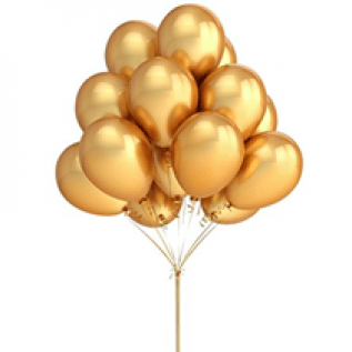 Gold Color Latex Balloons