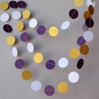 Purple & Gold Garland