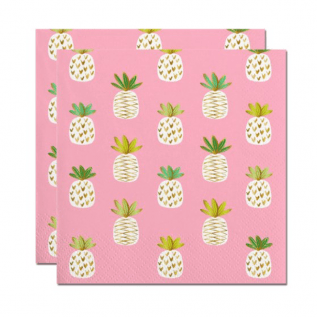 Pineapple Printed Party Napkins