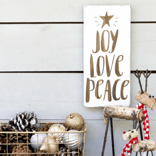Joy Love Peace Farmhouse Sign