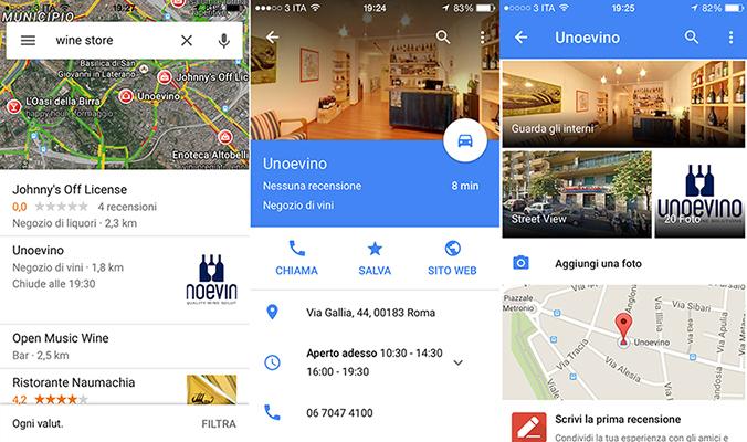 google maps ricerca per categoria