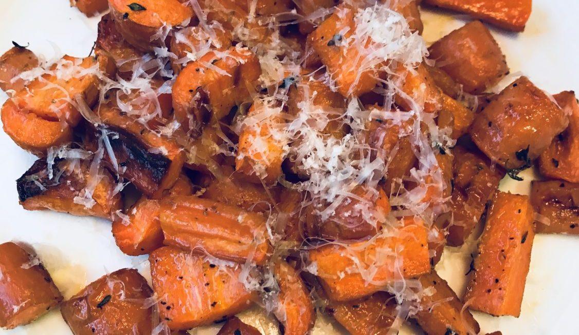 Roasted Parmesan Carrots