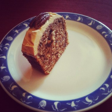 "A slice of ""Coffee and Walnut Cake"""