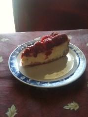 Una fetta di cheesecake alle fragole?