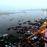 Dusk at River Ganges in Varanasi