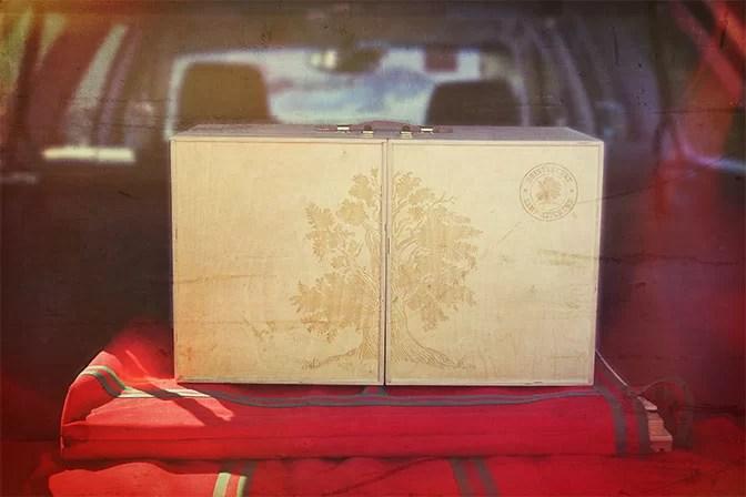 Bristlecone My Camp Kitchen Box in Subaru Trunk