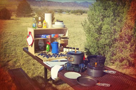 The My Camp Kitchen Outdoorsman Fits a Lot of Gear Inside