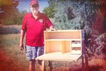 My Camp Kitchen Founder Richard Snogren with Patrol Box