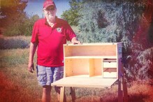 My Camp Kitchen Founder Richard Snogren with Patrol Box